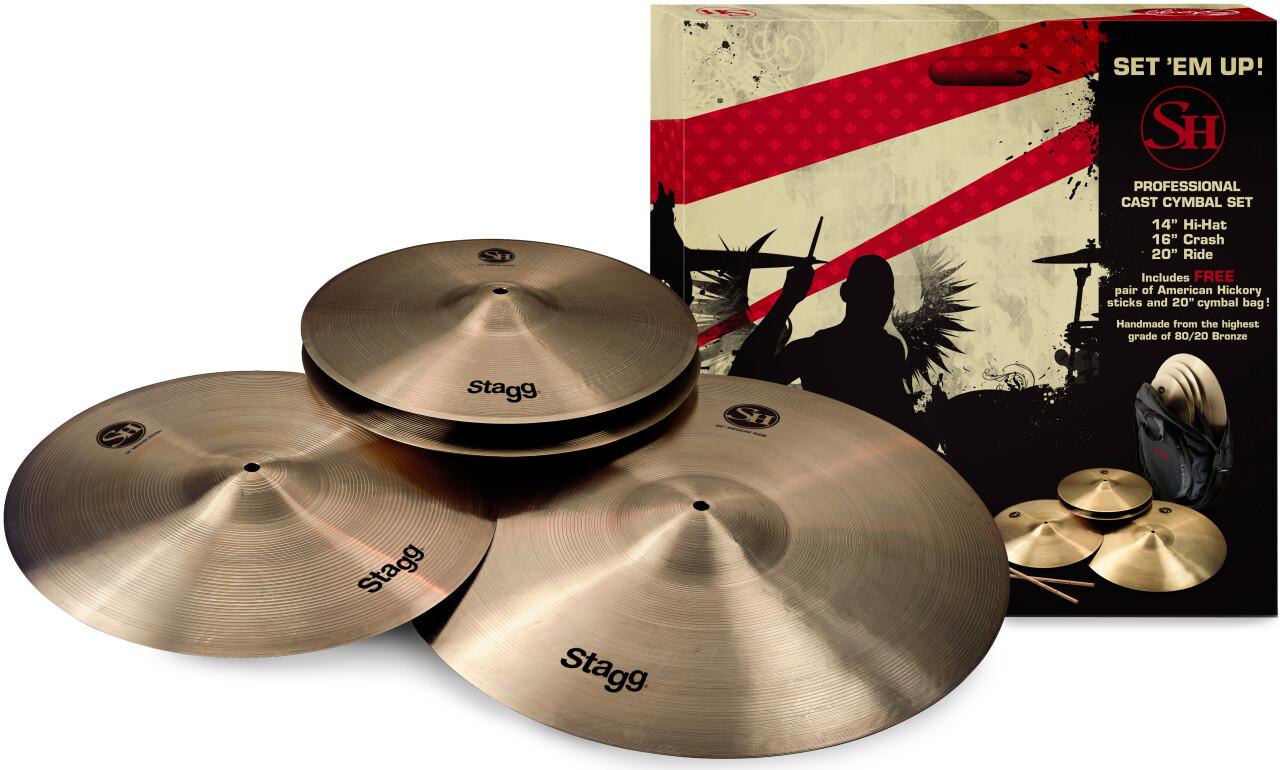 SH Series, Regular finish, Matched Cymbal Set