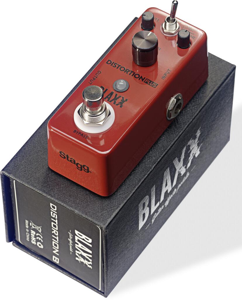BLAXX 3-mode distortionpedaal voor elektrische gitaar