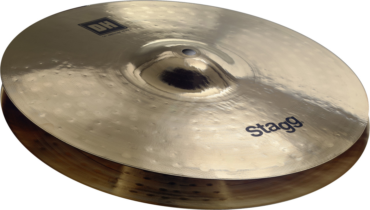 "Dual Hammered 13"" DH Brilliant Medium HiHat - Pair"