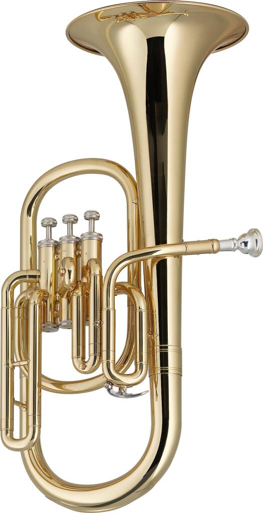 Eb Alto Horn met 3 ventielen, in ABS koffer
