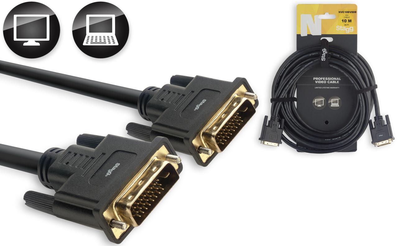 Câble Vidéo, série N - DVI-D mâle / DVI-D mâle, Dual Link