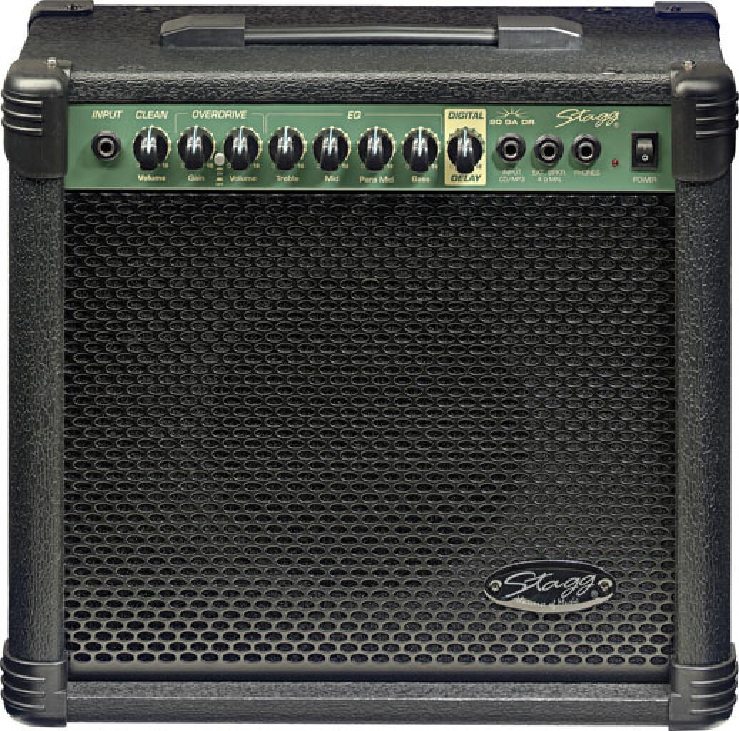 Ampli guitare 20 W RMS avec réverbe digital