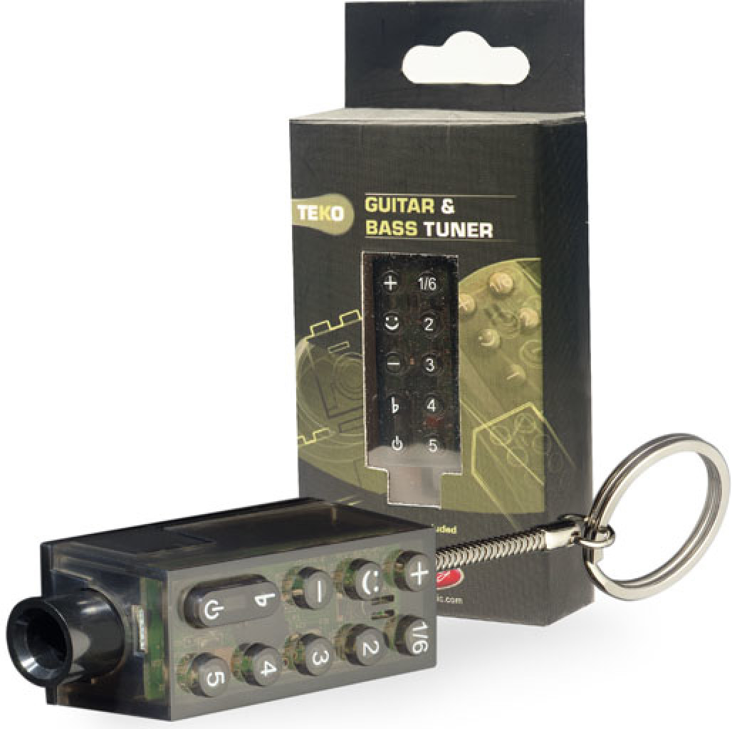 TEKO pocket/key ring tuner for guitar or bass