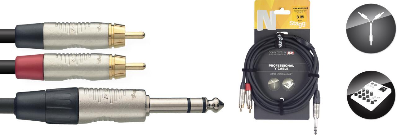 N Serie Y-kabel - stereo Klinke / 2 x m
