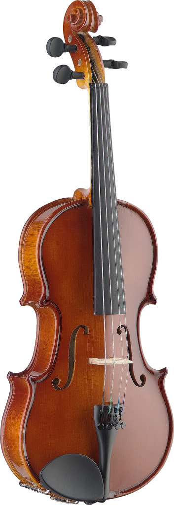 1/2 solid maple violin with soft case