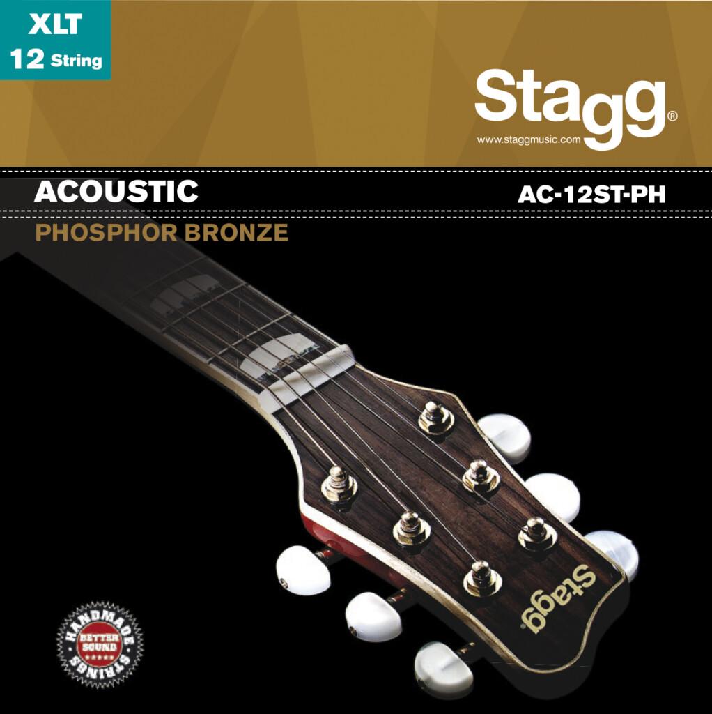 Jeu de cordes phoshor-bronze pour guitare acoustique à 12-cordes