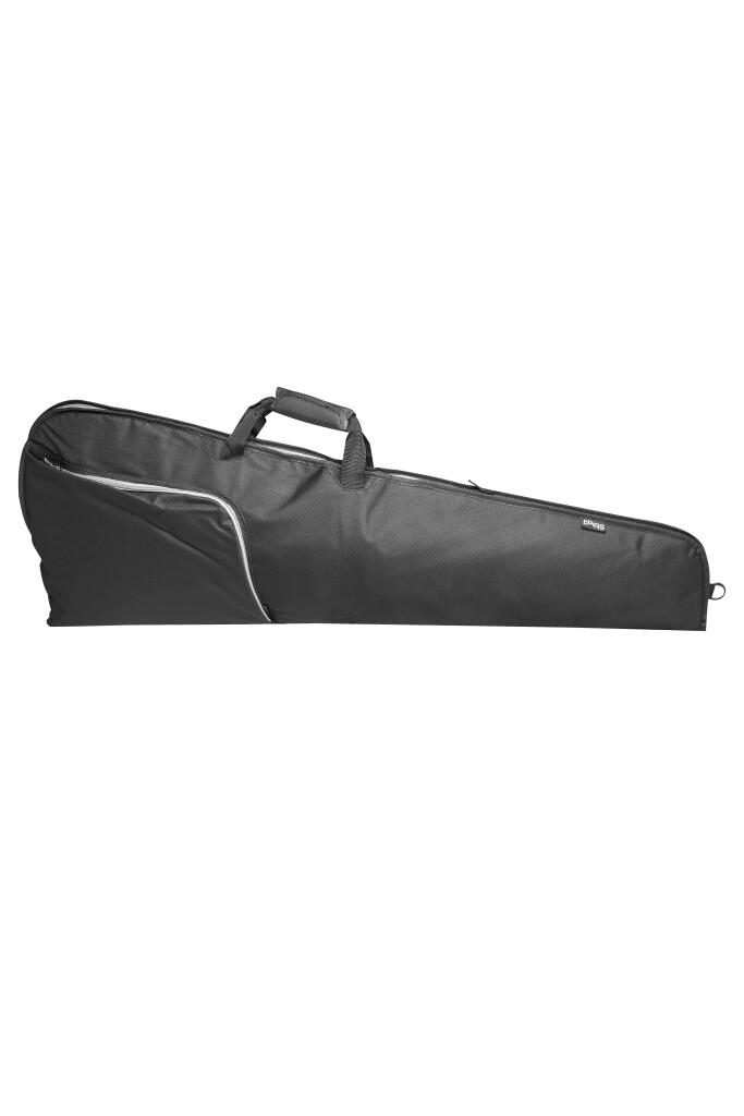 Basic series padded water repellent nylon bag for electric guitar, triangular model