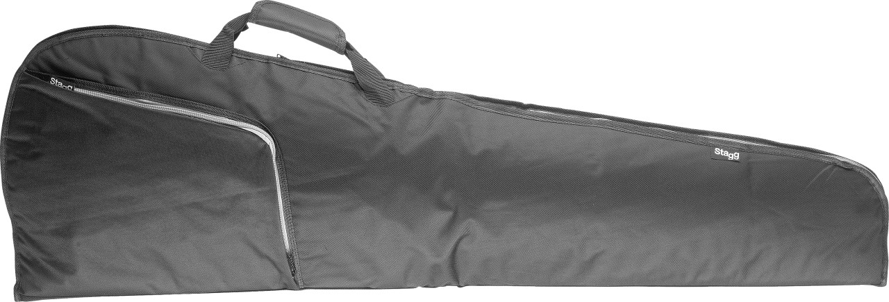 Basic series water-repellent padded nylon bag for electric bass guitar, triangular model
