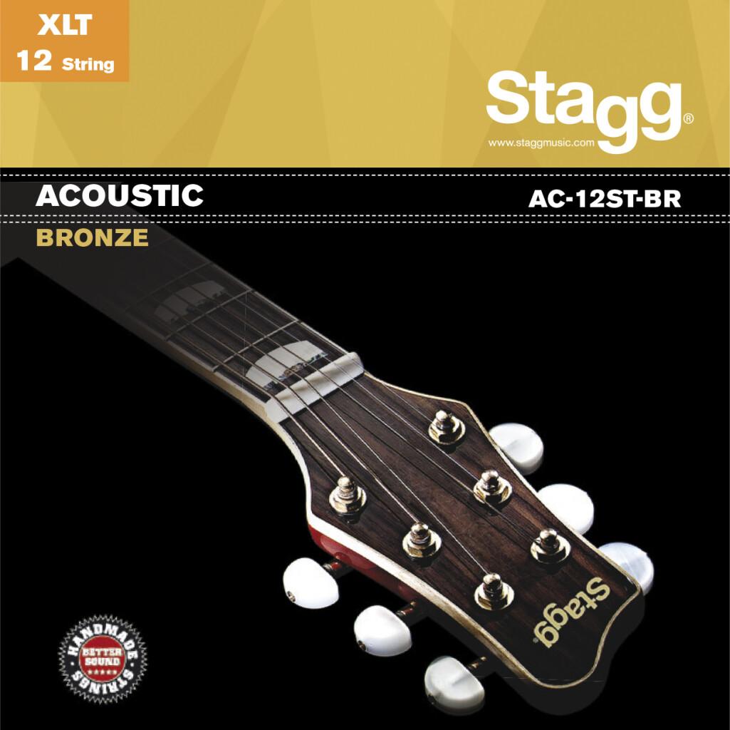 Jeu de cordes bronze pour guitare acoustique à 12-cordes