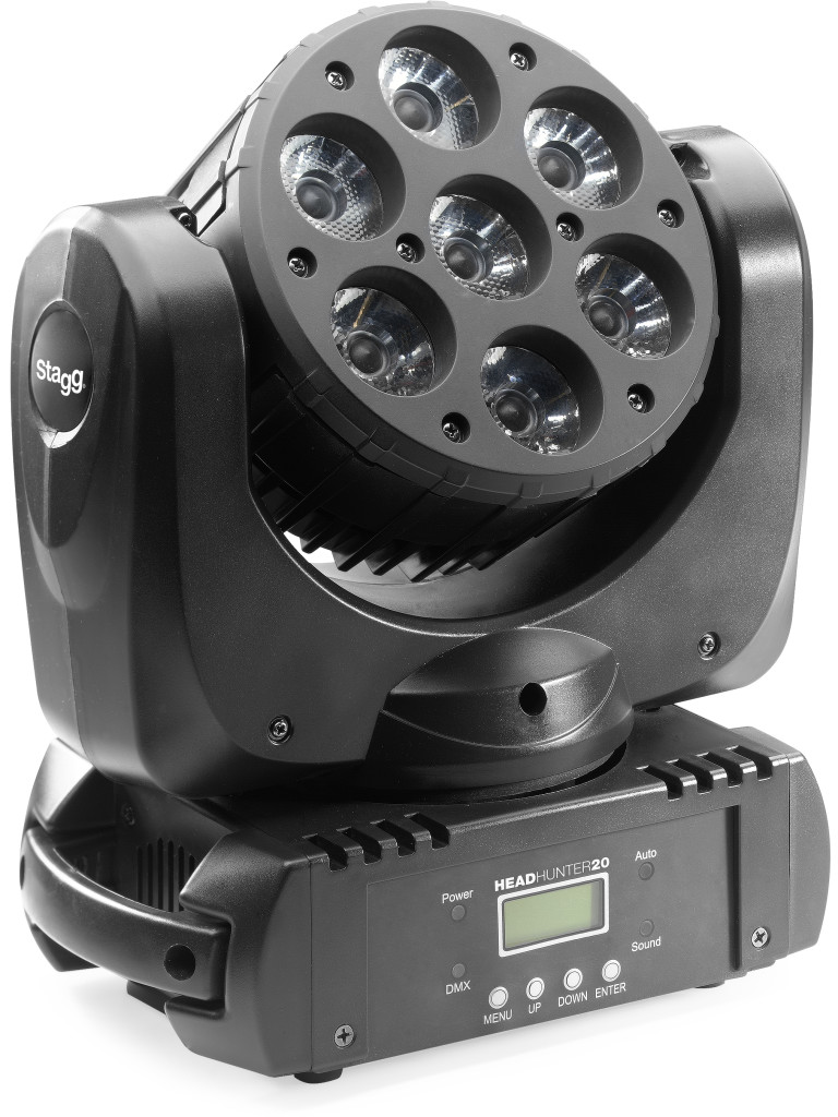HeadHunter 20, LED Beam Moving Head with 7x 10W (4-in-1, RGBW) USA CREE LEDs
