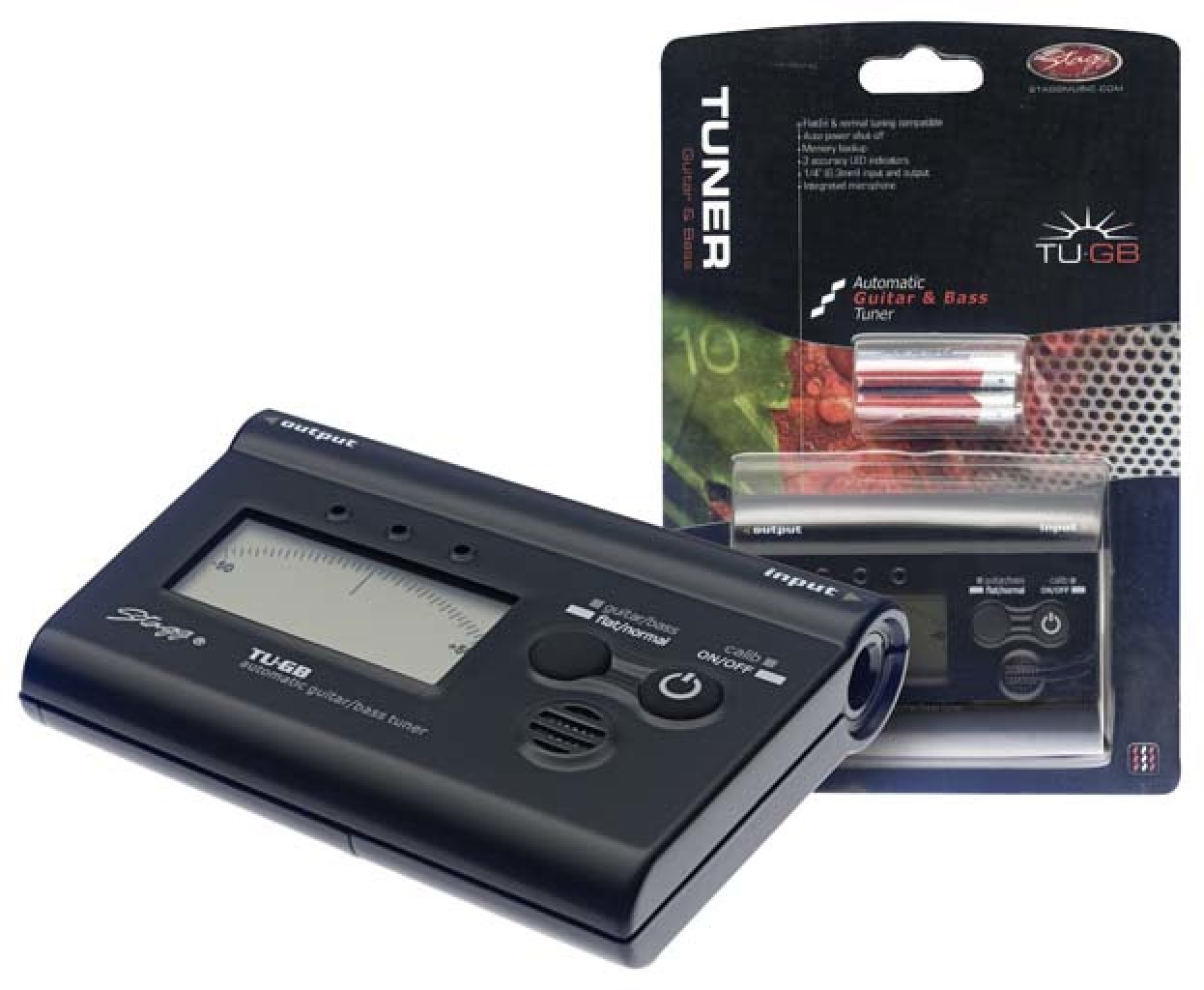 Automatic guitar and bass tuner