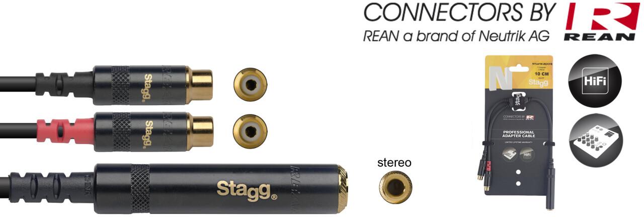 Câble adaptateur en Y, série N - jack stéréo M / 2x Cinch (RCA)