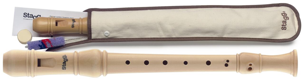 Soprano recorder, Baroque fingering, Maple wood