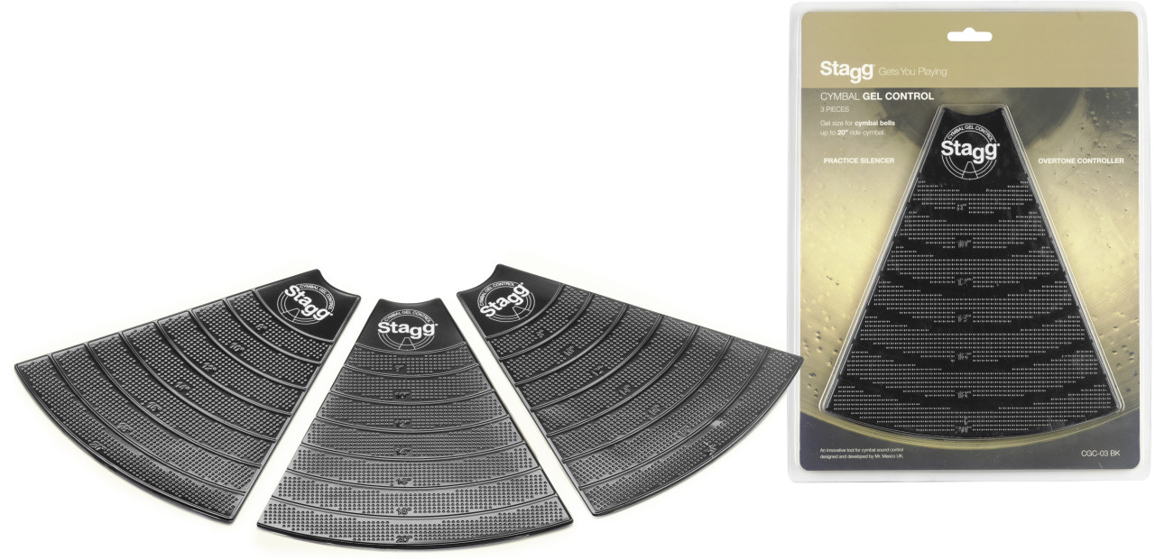 "Cymbal gel control pads for 5"" to 20"" cymbals, trimmable and reusable"