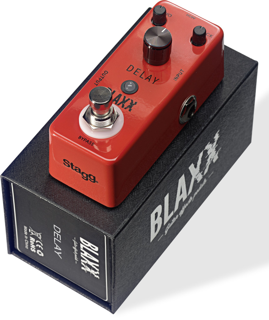 BLAXX Delay pedal for electric guitar