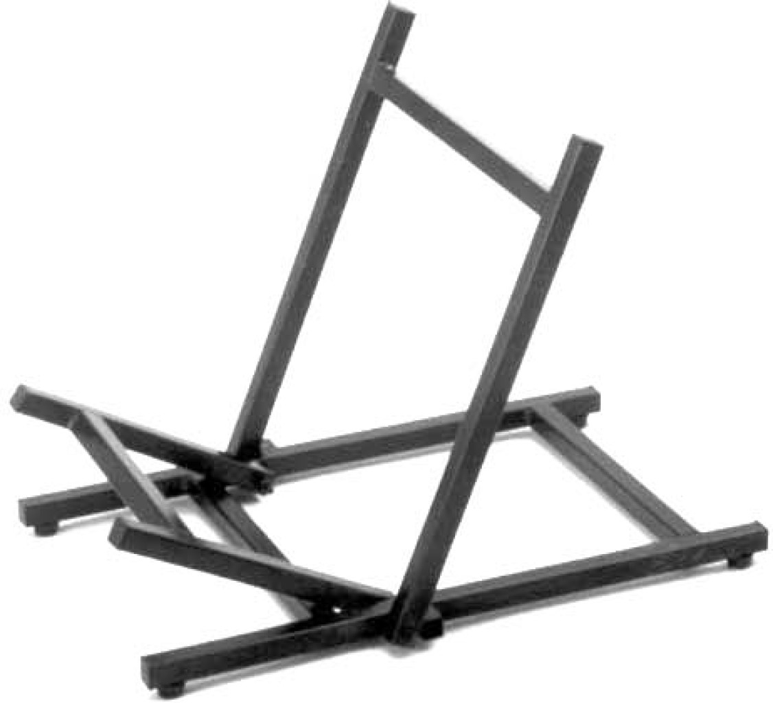 Foldable amplifier/ monitor floor stand