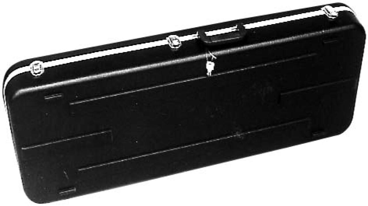 Medium weight ABS hardshell case for electric guitar, rectangular model, Standard series