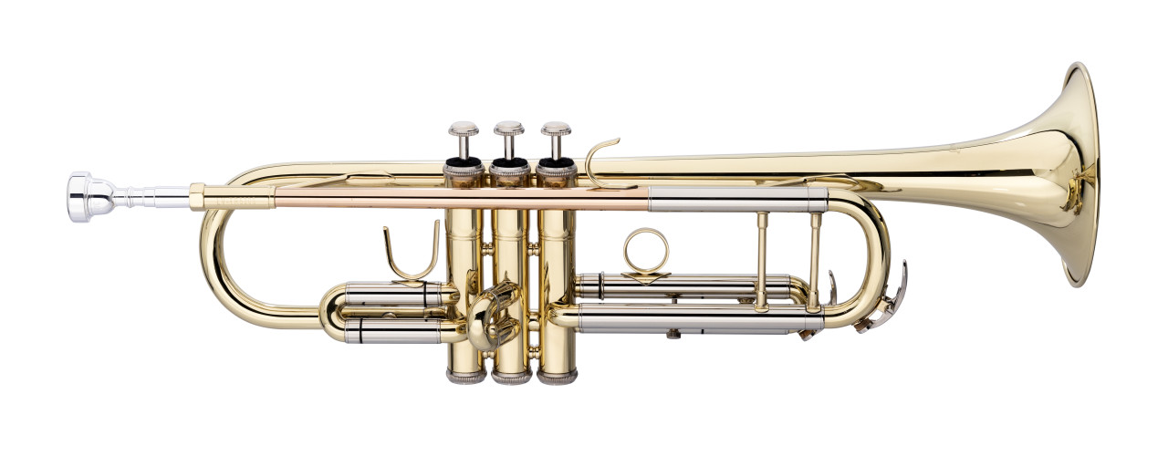 Bb Trompete, ML-Bohrung, Mundrohr in Goldmessing