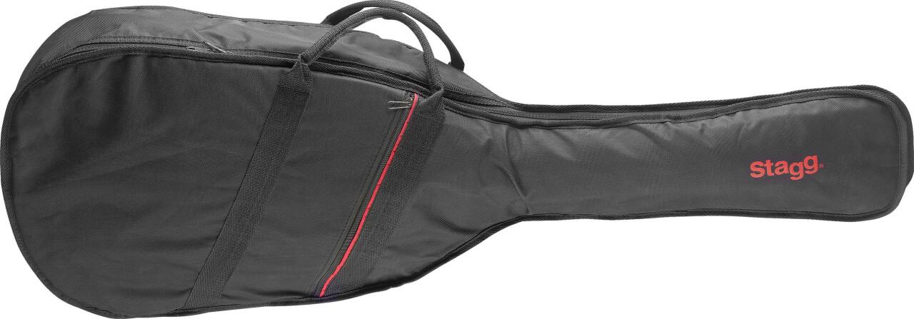 Basic series padded nylon bag for folk or western guitar
