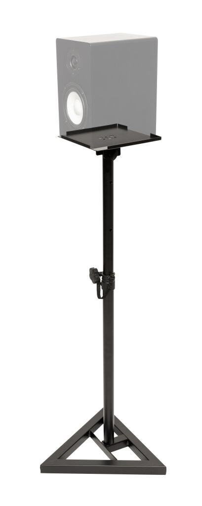 Zwei Studio-Monitor-Stative aus Stahl, höhenverstellbar, mit neigbarer Platte
