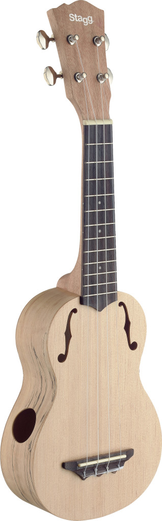 Traditional soprano ukulele with solid spruce top