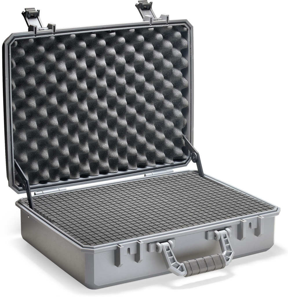 Water resistant, multi purpose utility case with pick 'n pluck foam