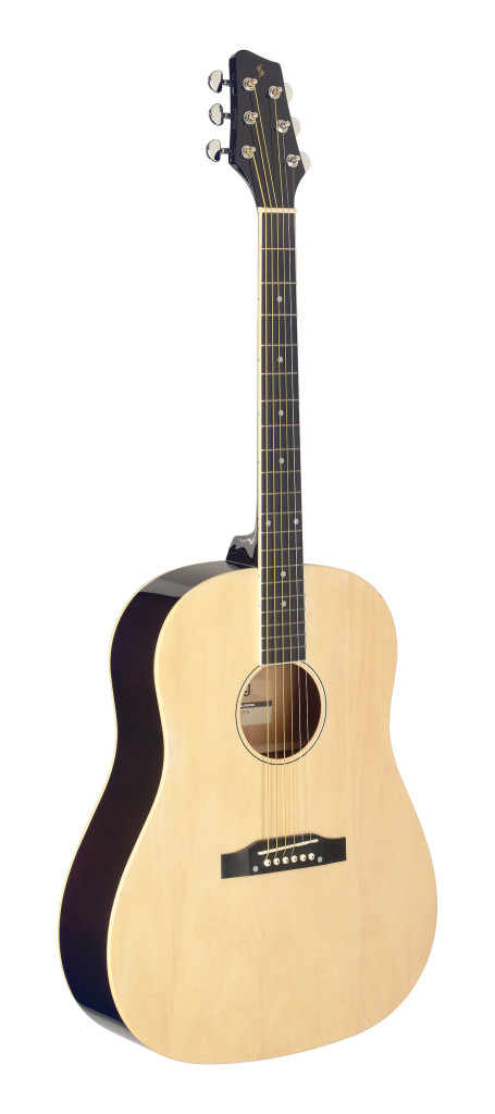 Slope Shoulder dreadnought guitar, natural colour