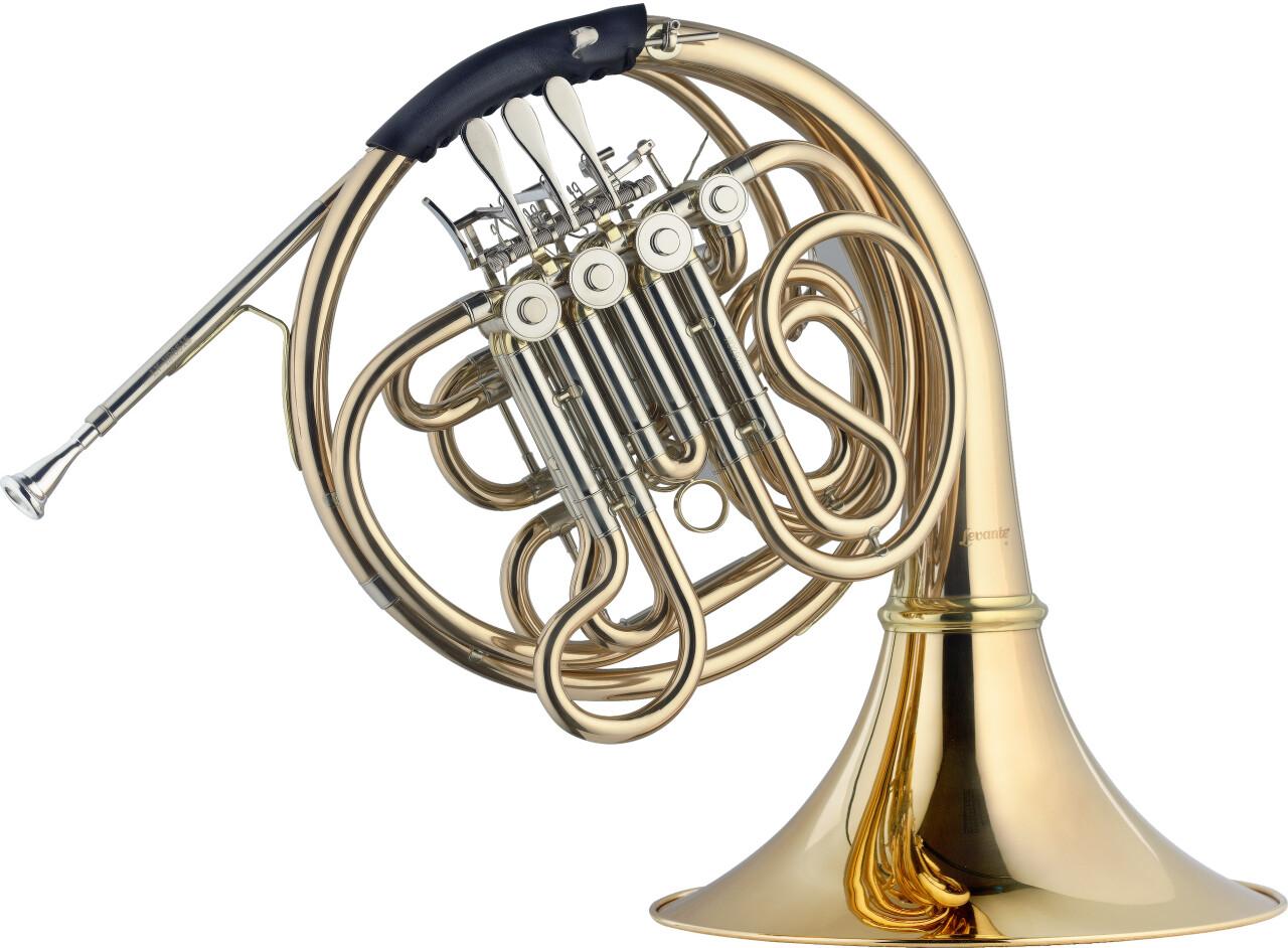 Cor d'harmonie double compensé Fa/Sib, à 4 palettes, corps en cuivre rose