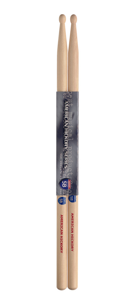 Pair of Hickory Sticks/5B - Wooden Tip