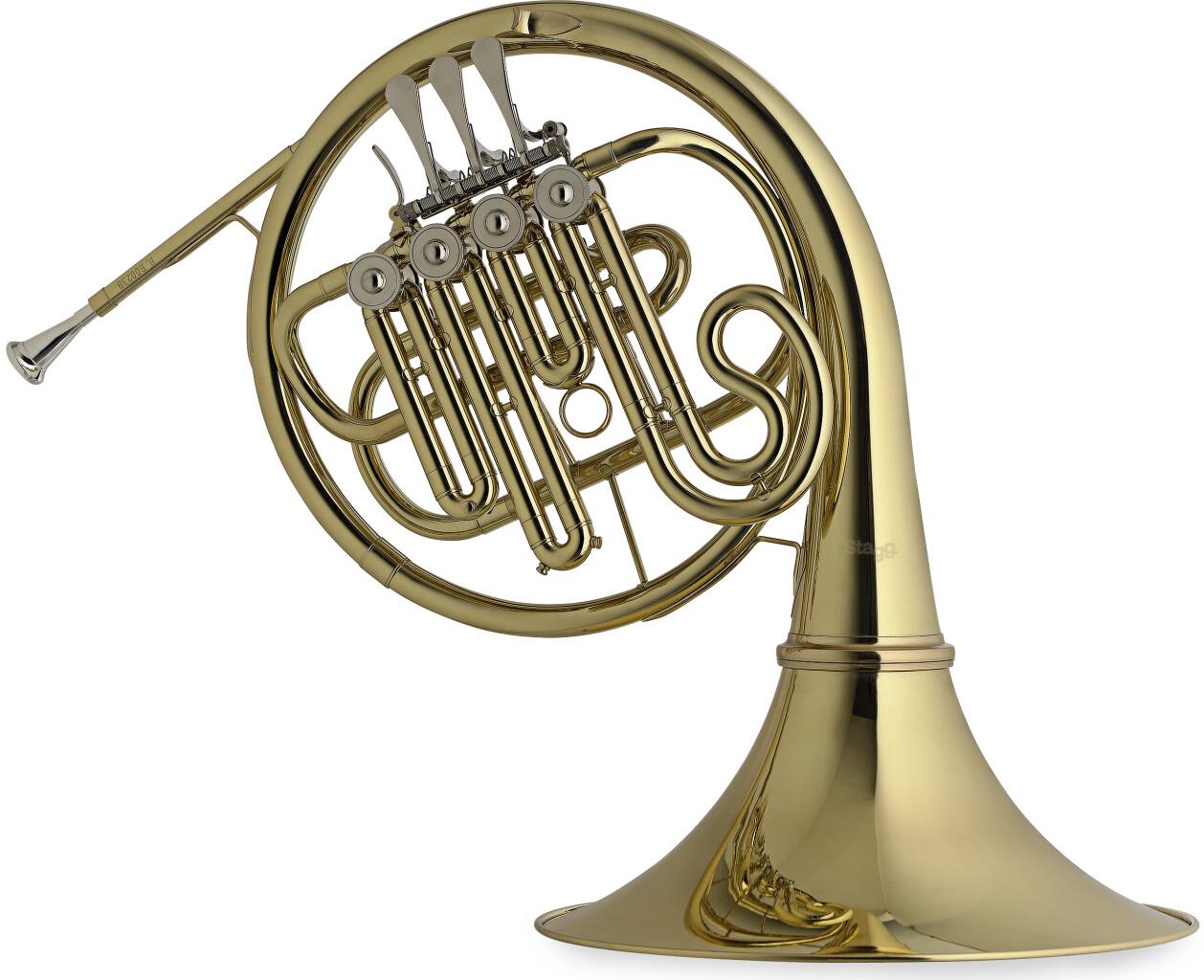 Bb Horn w/A+ valve, 4 rotary valves, body in brass