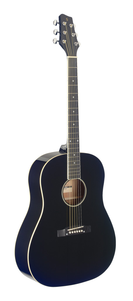 Guitare dreadnought Slope Shoulder, noire