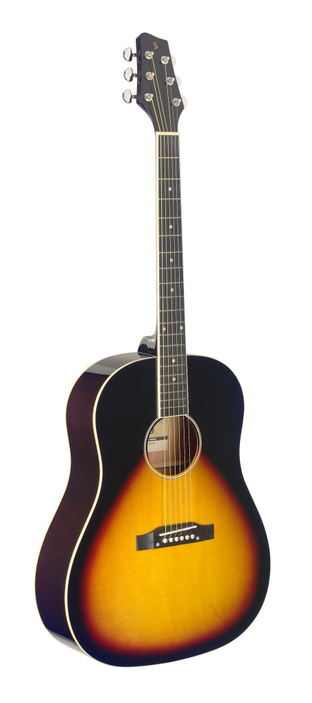 Slope Shoulder dreadnought guitar, sunburst