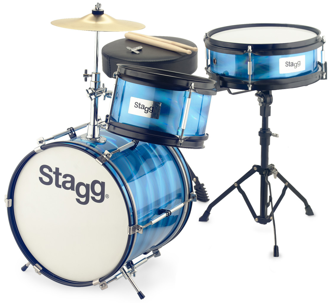 "3-piece junior drum set with hardware, 8"" / 10"" / 12"""