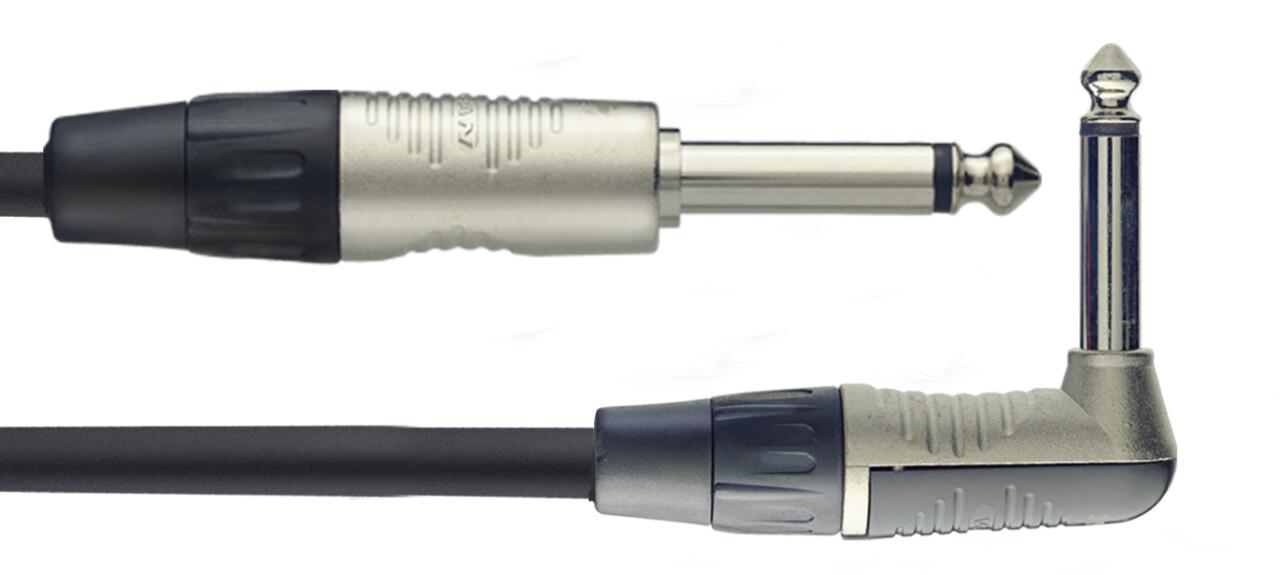 Câble instrument, jack/jack (m/m, droit/coudé), 3 m