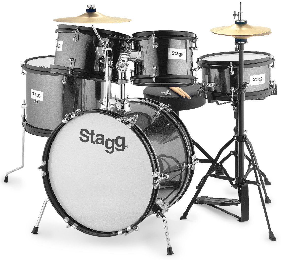 "5-teiliges Junior Drumset mit Hardware, 8"" / 10"" / 10"" /12"" / 16"""
