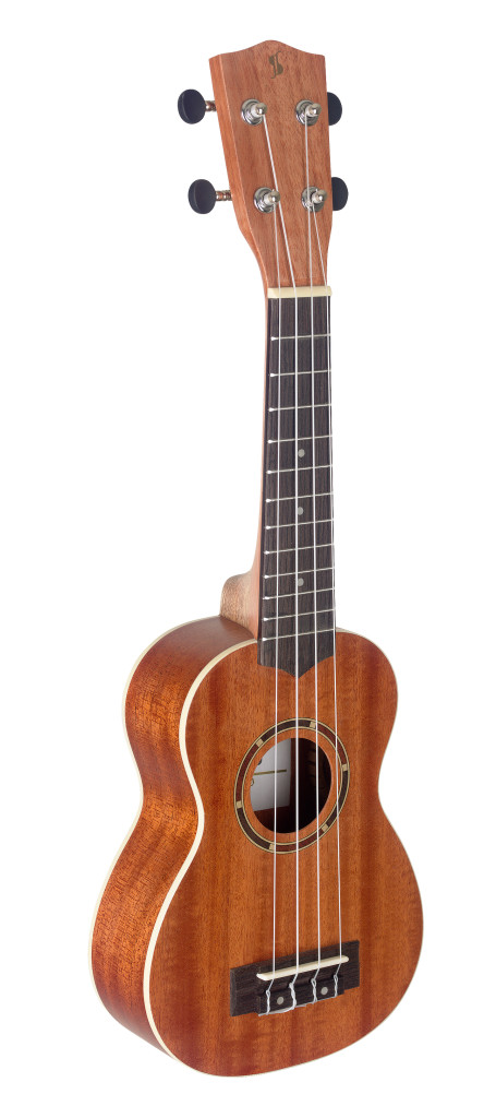 Traditional soprano ukulele with sapele top and gigbag