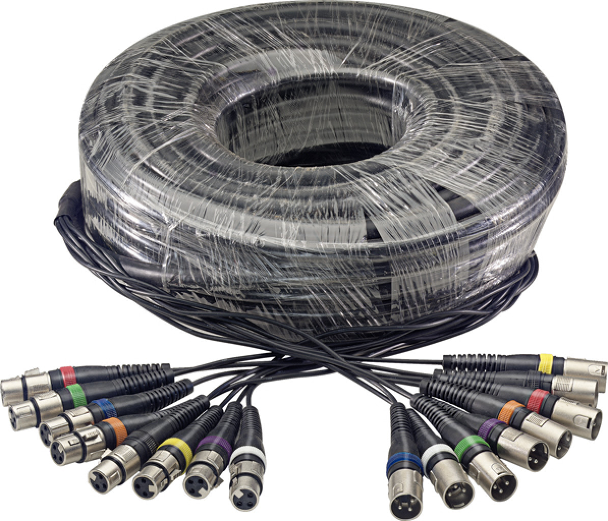 30 m/100 ft. Multicore Cable - 8 x f. XLR/8 x m