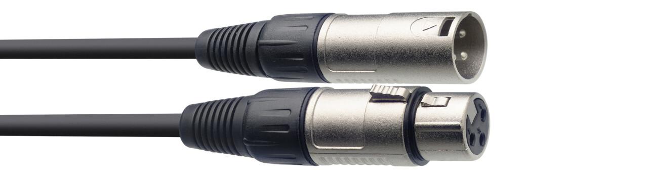 Câble de microphone XLR/XLR (m/f), 60 cm