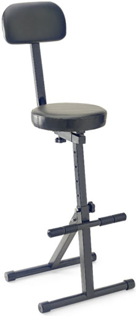 Professional, multi-purpose musician's high-throne with backrest