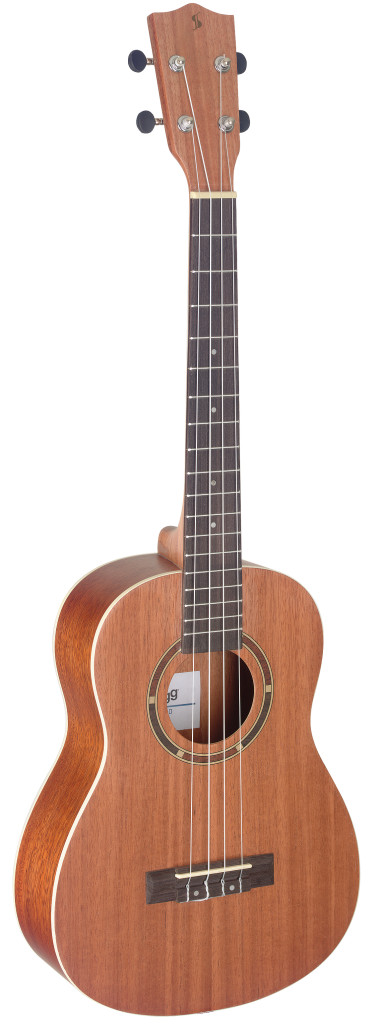 Traditional baritone ukulele with sapele top and gigbag