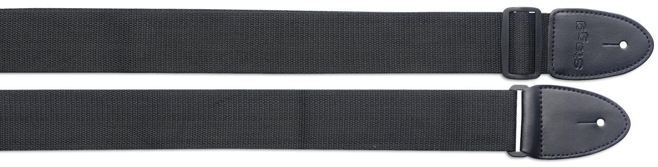 Courroie en nylon noir tressé - Standard