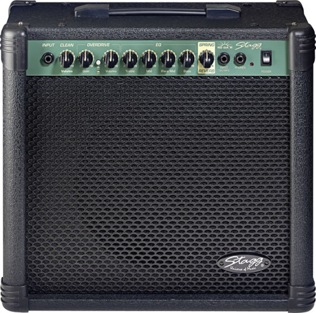 40 W RMS 2-channel Guitar Amplifier with spring reverb