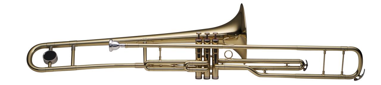 Bb Valve Trombone, 3 pistons, w/ABS case