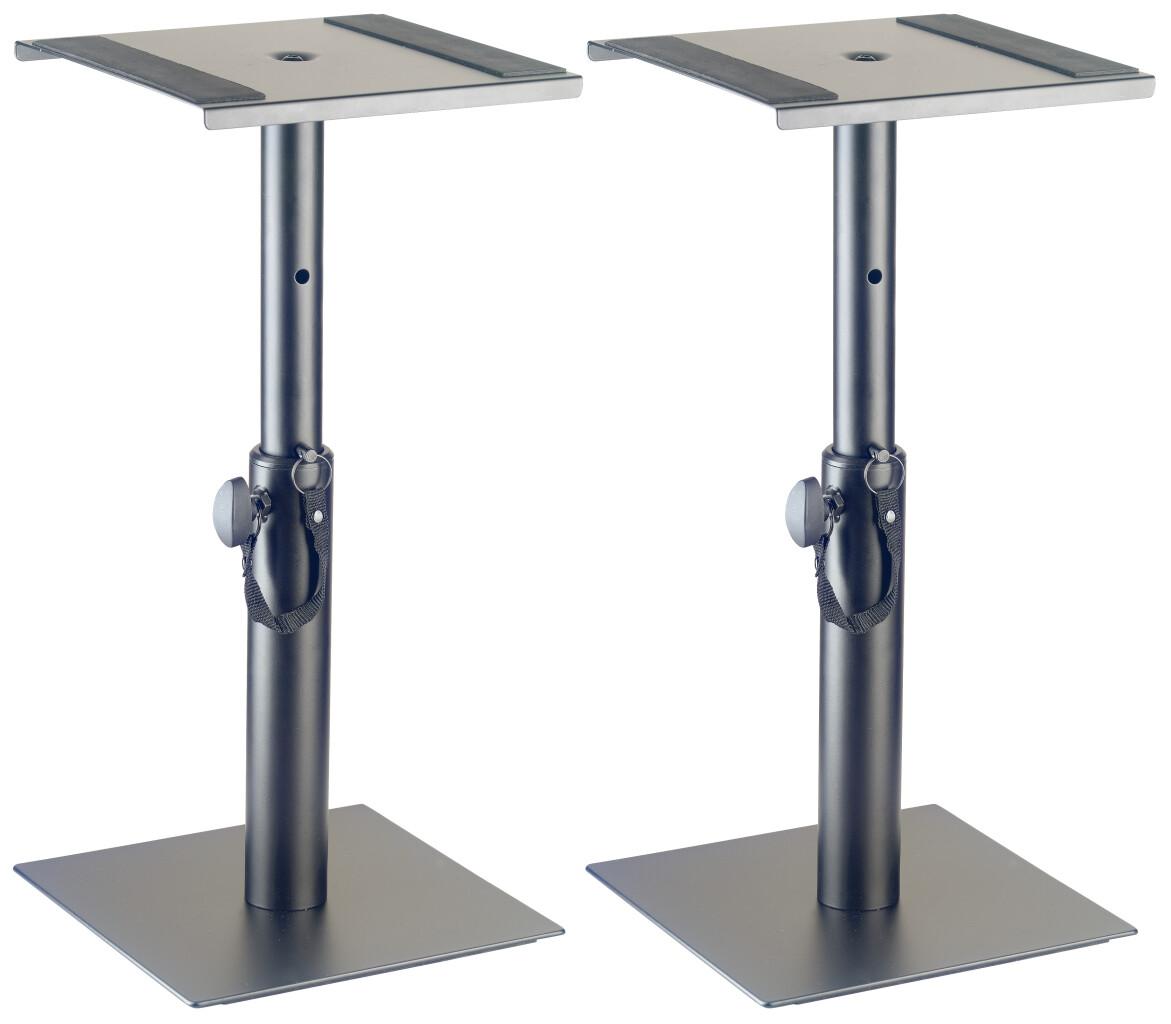 Deux supports de moniteur de studio ou de lumières, réglables en hauteur