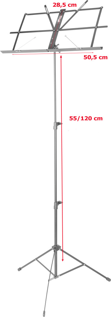 3-section steel music stand