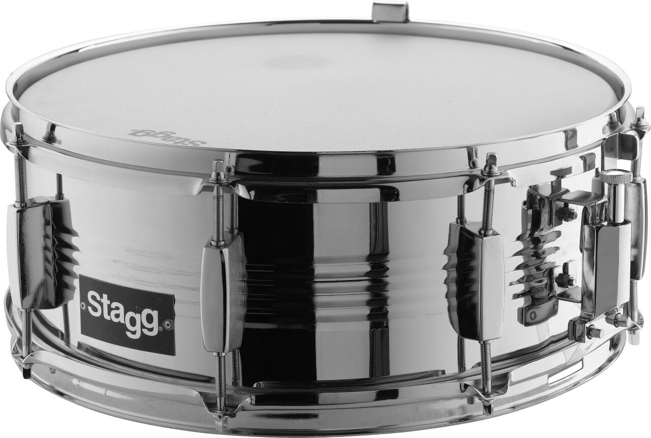 """14"""" x 5.5"""" Stahl-Snare-Drum mit 8 Spannböckchen-Paaren"""