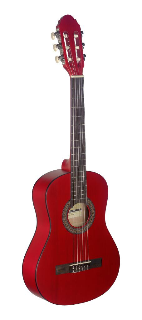 Guitare classique 1/2 rouge avec table en tilleul