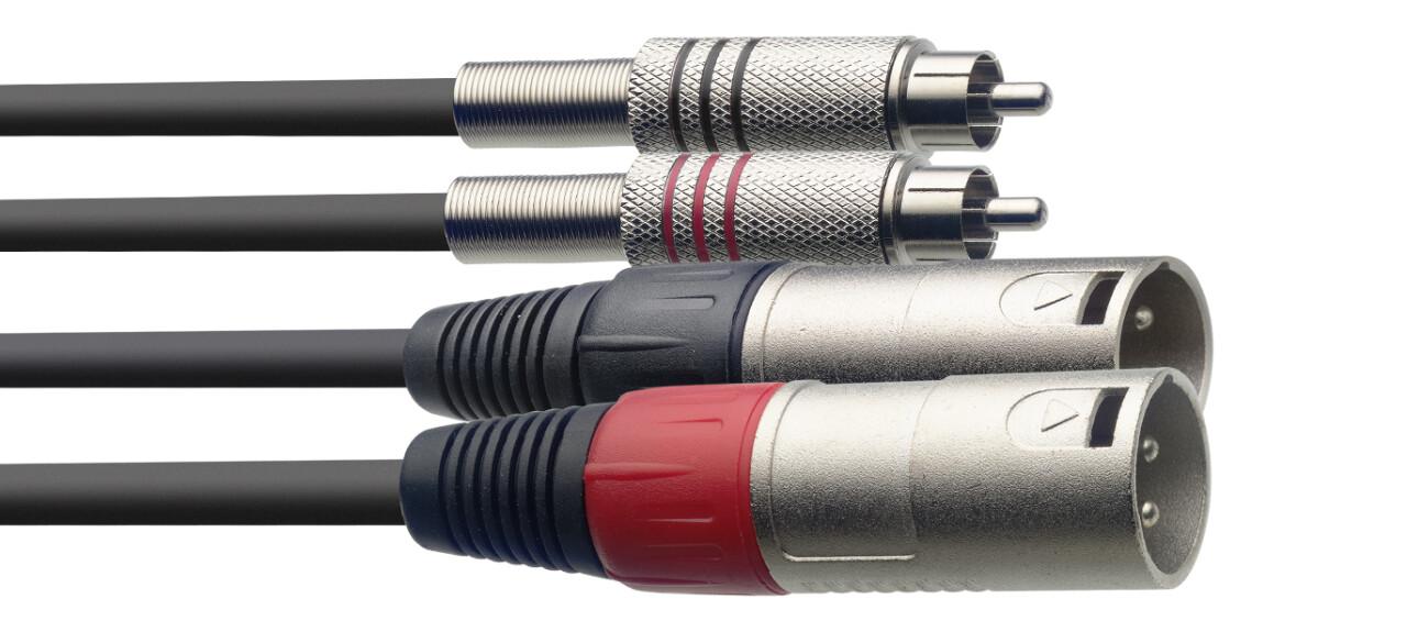 Câble bretelle, XLR/RCA (m/m), 1,5 m