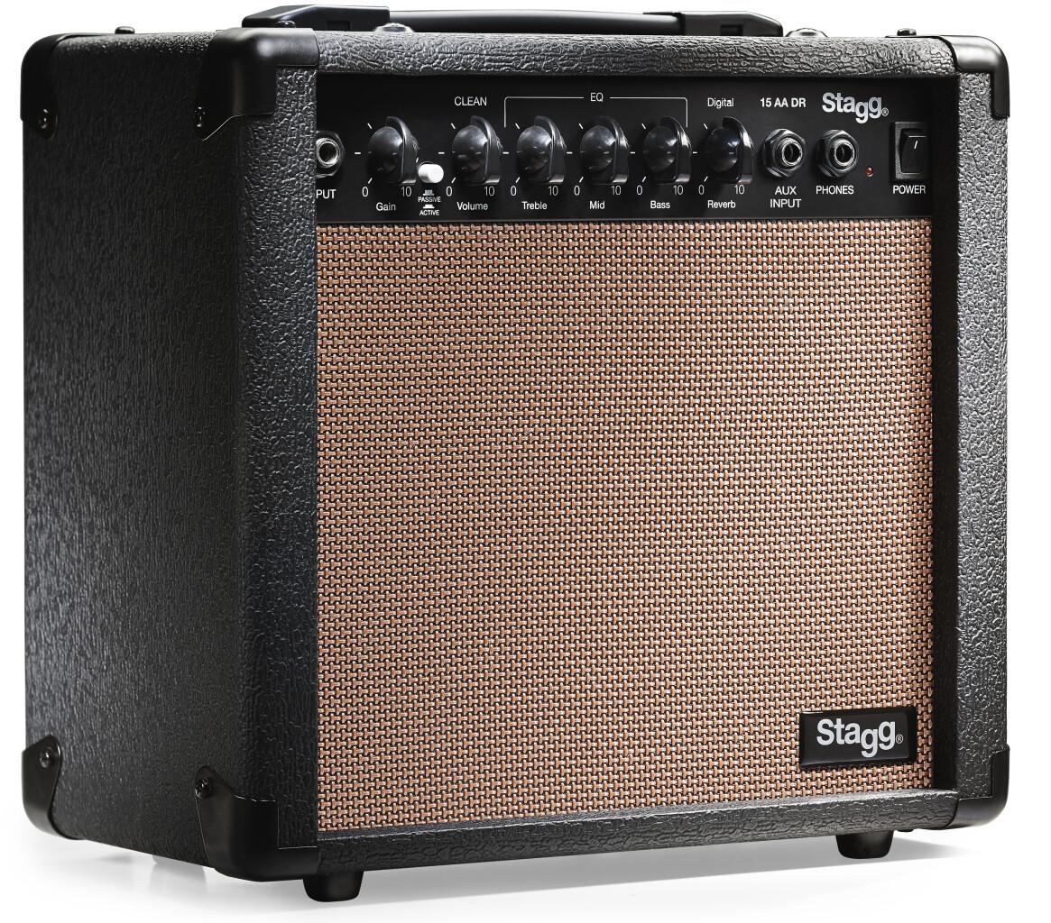 15-watt digital reverb acoustic amplifier