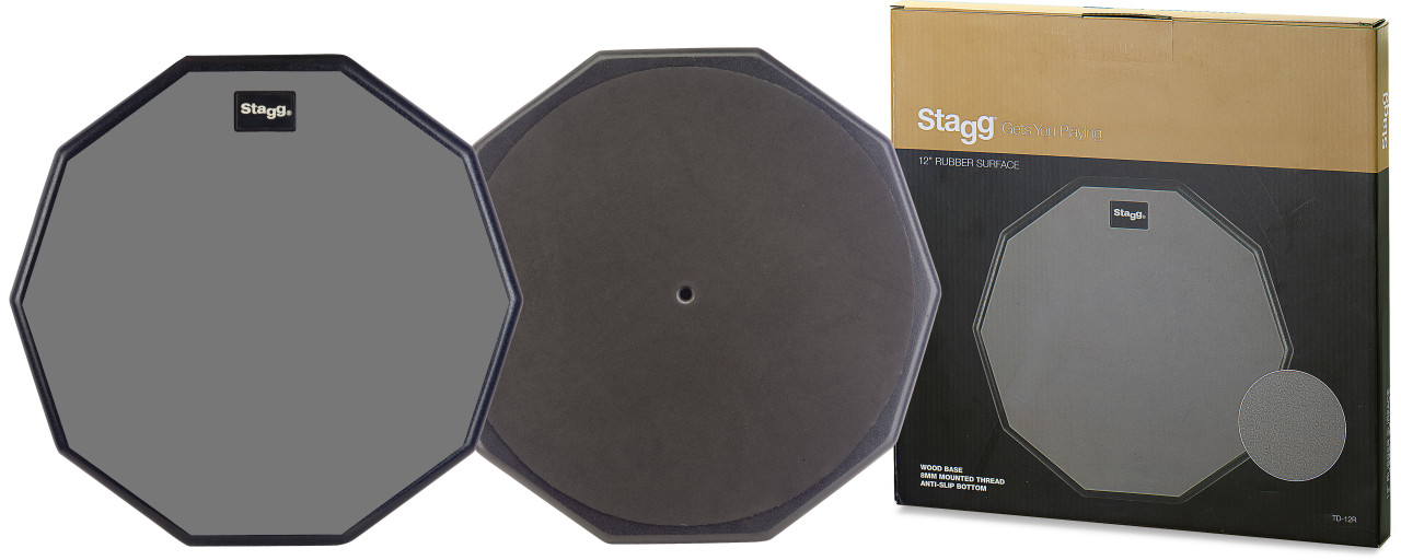 "12"" desktop practice pad, ten-sided shape"